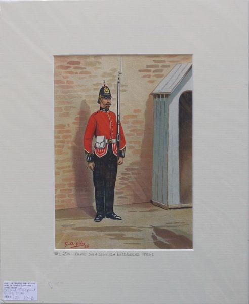 The 25th King's Own Scottish Borderers 1880's
